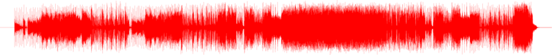 Waveform image of a single audio channel