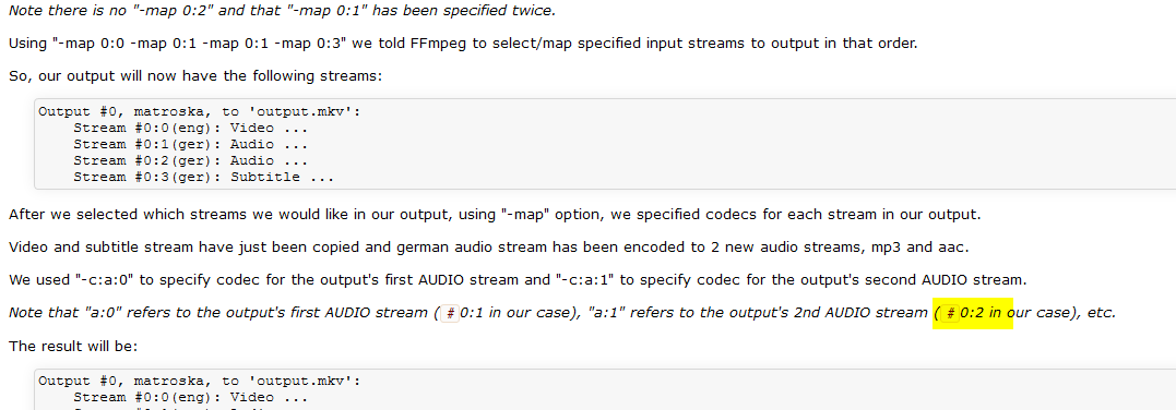 6454 (Wiki - Map, example lists wrong stream id at one spot) – FFmpeg